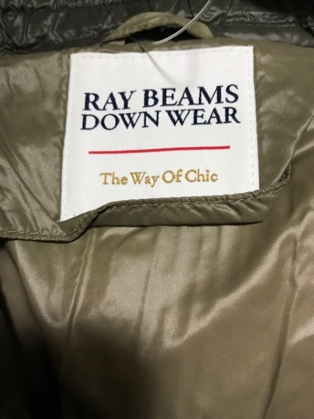 RAY BEAMS(レイビームス) ダウンコート サイズM レディース美品  カーキ 冬物