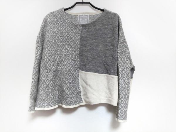 BEARDSLEY(ビアズリー) 長袖セーター サイズF レディース美品  アイボリー×グレー