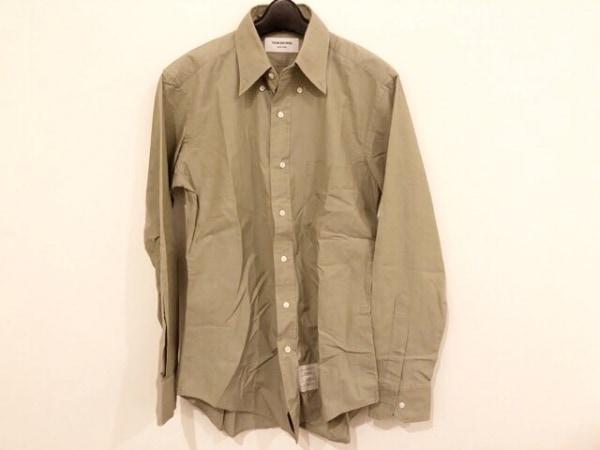THOM BROWNE(トムブラウン) 長袖シャツ サイズ2 M メンズ カーキ