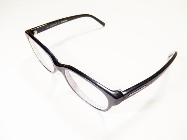 ジルサンダー メガネ美品  JS2660K クリア×黒 度入り/木目調 プラスチック