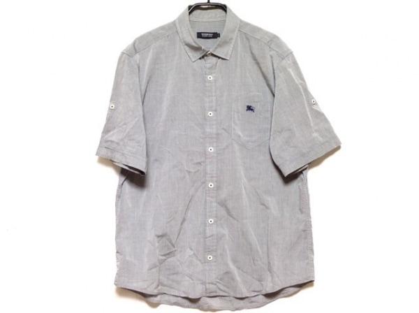 バーバリーブラックレーベル 半袖シャツ サイズ3 L メンズ グレー