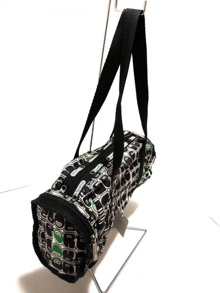LESPORTSAC(レスポートサック) ショルダーバッグ 白×黒×グリーン レスポナイロン