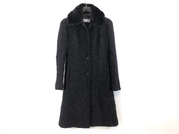 Max Mara(マックスマーラ) コート サイズ38(J) レディース 黒×アイボリー 冬物
