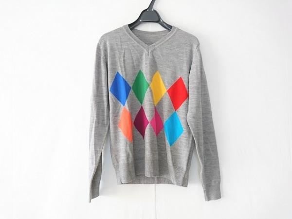 SOPHNET(ソフネット) 長袖セーター サイズM メンズ グレー×マルチ