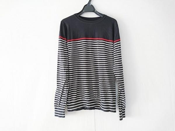 ユニフォームエクスペリメント 長袖セーター メンズ ダークネイビー×レッド×白