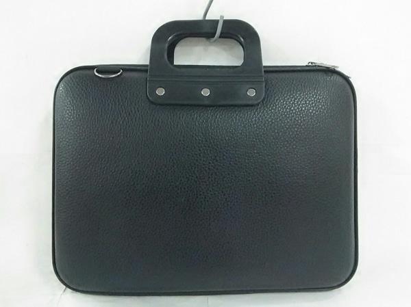 Bombata(ボンバータ) ビジネスバッグ 黒 レザー×ラバー