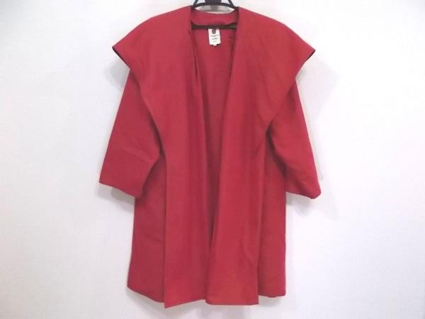 Ungaro(ウンガロ) コート サイズ9 M レディース レッド 春・秋物/肩パッド