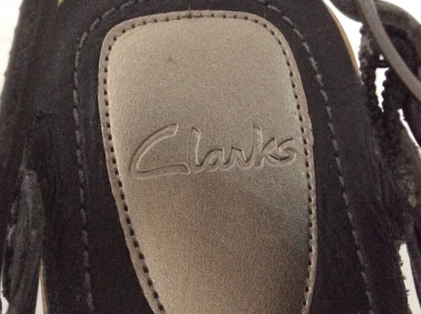 Clarks(クラークス) サンダル 5 レディース 黒 レザー