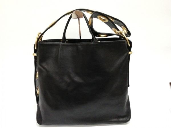 KITAMURA(キタムラ) ショルダーバッグ美品  黒×ゴールド 2way レザー×金属素材
