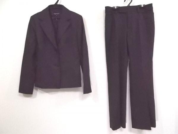 INDIVI(インディビ) レディースパンツスーツ サイズ40 M レディース ダークグレー×黒