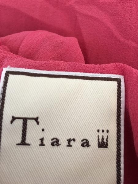 Tiara(ティアラ) ワンピース サイズ3 L レディース美品  ピンク フリル/シルク