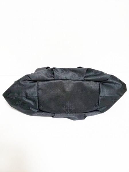 russet(ラシット) トートバッグ 黒 ナイロンジャガード×レザー