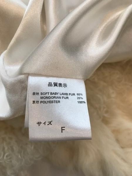 シュガーローズ ブルゾン サイズF レディース美品  アイボリー ファー/冬物