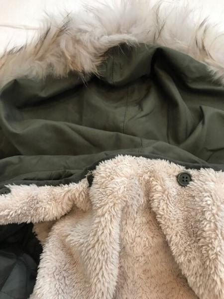 ロイヤルパーティー コート サイズ38 M レディース美品  カーキ スタッズ/冬物