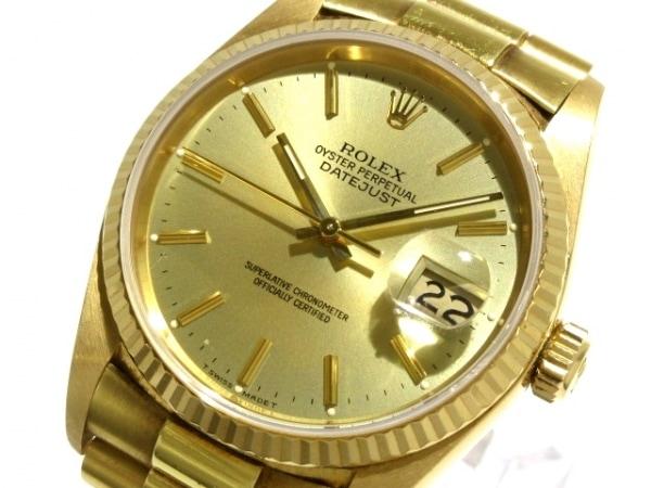 ROLEX(ロレックス) 腕時計 デイトジャスト 16018 メンズ ゴールド 1