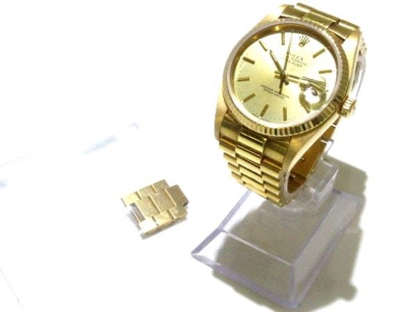 ROLEX(ロレックス) 腕時計 デイトジャスト 16018 メンズ ゴールド 9