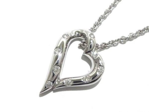 ブシュロン ネックレス美品  Bコレクション K18WG×ダイヤモンド 9Pダイヤ/ハート