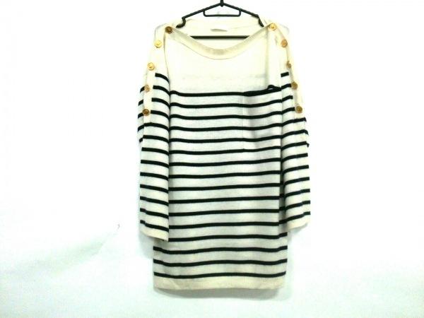 クロエ 長袖セーター サイズXS レディース 10SMP31-10S530 アイボリー×ネイビー