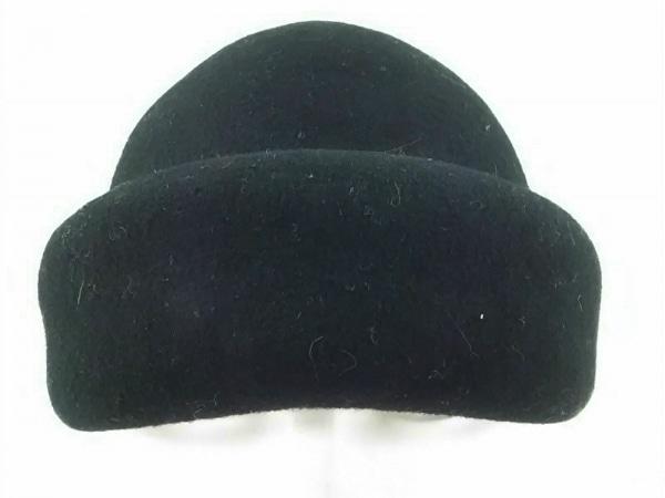 RopePicnic(ロペピクニック) 帽子 黒 リボン ウール