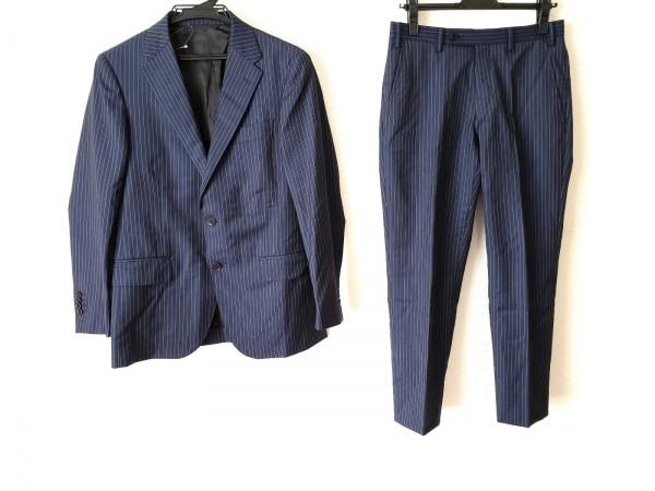 simplicite(シンプリシティエ) シングルスーツ サイズ44 L メンズ ネイビー×ブルー