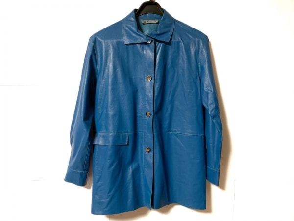 GENNY(ジェニー) コート サイズ42 L レディース ブルー レザー/春・秋物