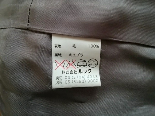 Scapa(スキャパ) スカートスーツ サイズ40 XL レディース グレー×ネイビー×ベージュ