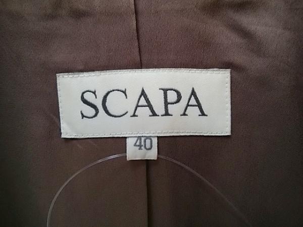 Scapa(スキャパ) スカートスーツ サイズ40 XL レディース ダークブラウン プリーツ