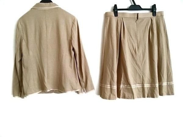 Scapa(スキャパ) スカートスーツ レディース ライトブラウン×ベージュ