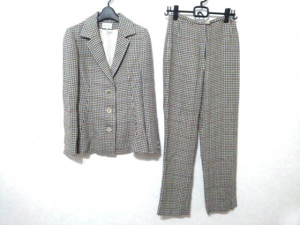 ジュンコシマダ レディースパンツスーツ サイズ9 M レディース 千鳥格子/チェック柄