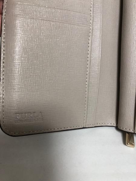 FURLA(フルラ) 2つ折り財布 ベージュ レザー