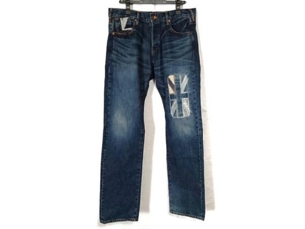 ポールスミスレッドイヤー ジーンズ サイズXL メンズ ブルー 国旗パッチワーク