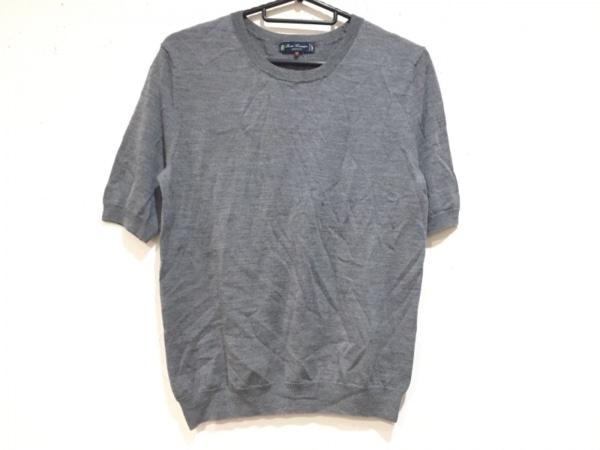 AMACA(アマカ) 半袖セーター サイズ38 M レディース美品  グレー