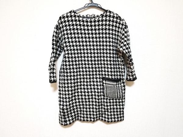 HIROKO BIS(ヒロコビス) ワンピース サイズ9 M レディース美品  黒×白 千鳥格子