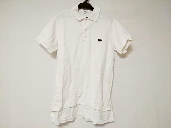 SCYE(サイ) 半袖ポロシャツ サイズ40 M メンズ美品  白×ダークネイビー