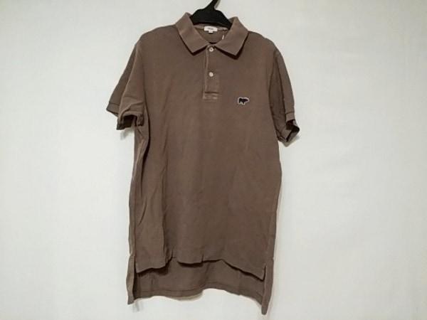 サイ 半袖ポロシャツ サイズ40 M メンズ美品  グレー×ベージュ×ダークネイビー