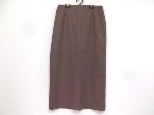 RENA LANGE(レナランゲ) ロングスカート サイズ40 M レディース美品  ダークブラウン