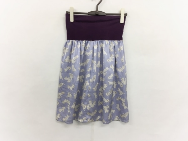 franchelippee(フランシュリッペ) スカート サイズM レディース美品  パープル×白