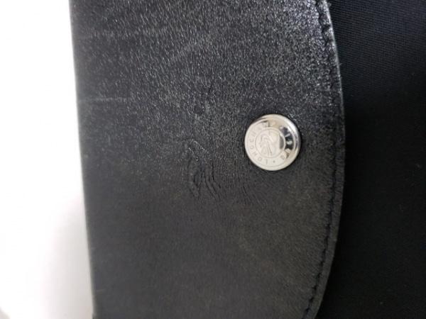 LONGCHAMP(ロンシャン) ハンドバッグ 黒 折りたたみ ナイロン×レザー
