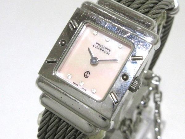 フィリップシャリオール 腕時計 6007909 レディース シェル文字盤 ピンク