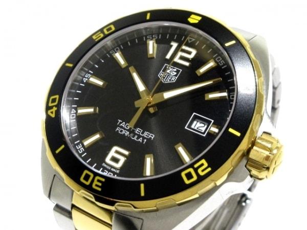 タグホイヤー 腕時計美品  フォーミュラー1 WAZ1121/WAZ1121.BB0879 メンズ SS×GP 黒