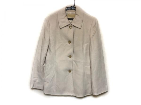 アヴィエンヌ コート サイズ38 M レディース美品  アイボリー 冬物/ステンカラー
