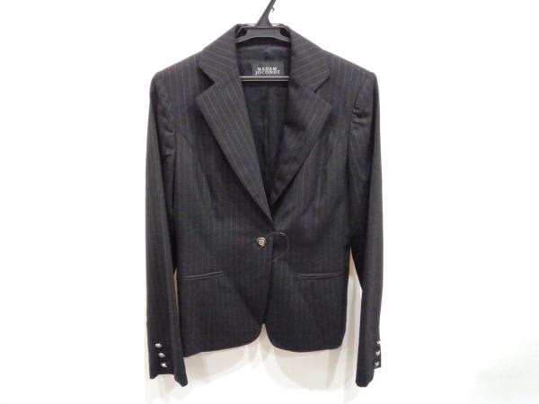 MADAM JOCONDE(マダムジョコンダ) ジャケット サイズ9 M レディース 黒×ライトグレー