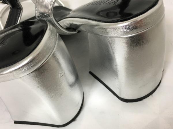 MURUA(ムルーア) サンダル 36 レディース シルバー レザー