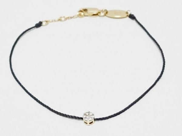 redline(レッドライン) ブレスレット美品  K18YG×ダイヤモンド×化学繊維 7Pダイヤ