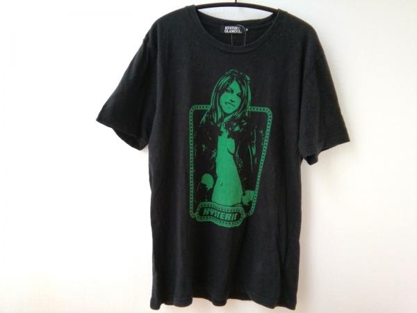 ヒステリックグラマー 半袖Tシャツ サイズM レディース 黒×グリーン