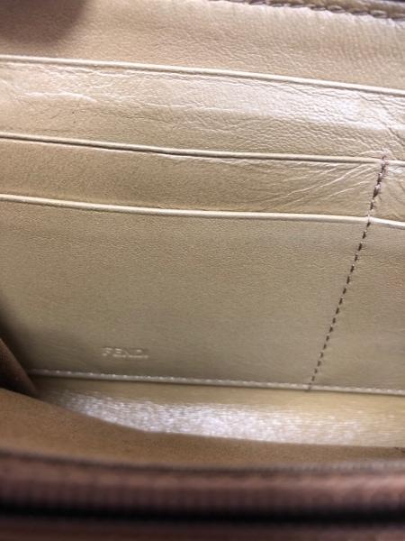 フェンディ 長財布 ズッカ柄 - ブラウン×ダークブラウン×マルチ PVC(塩化ビニール)