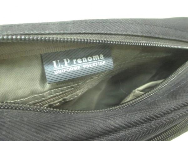 RENOMA(レノマ) ショルダーバッグ ダークネイビー×ダークブラウン 化学繊維×レザー
