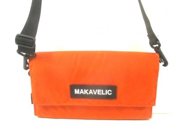 MAKAVELIC(マキャベリック) ショルダーバッグ オレンジ×黒×白 ナイロン