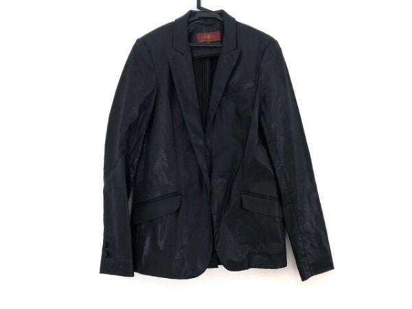 セブンフォーオールマンカインド ジャケット サイズS レディース 黒 光沢素材