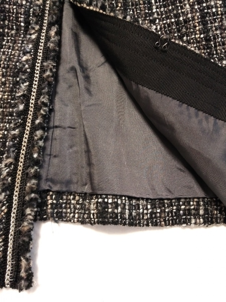 23区(ニジュウサンク) ジャケット サイズ38 M レディース 黒×ライトグレー×マルチ